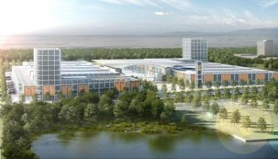 紅島國際會議展覽中心主體結構封頂 年內投入使用