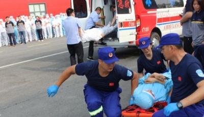 """莱西举行安全应急演练暨""""第一响应人""""应急救护技能培训活动"""