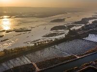 (美麗中國)黃河日出 景色迷人