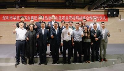 崂山区农业农村局与深圳华巨臣实业集团战略合作签约仪式圆满成功