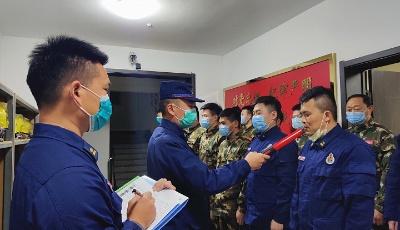 高新区消防疫情防控领导小组  深入各消防救援站进行晚点名和酒精测试