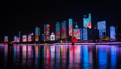 青岛发布最新夜景亮化设施启闭时间  增加浮山湾灯光秀播放场