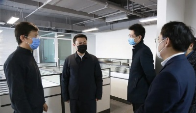 崂山区委常委、宣传部长王洵一行莅临镭测创芯视察调研