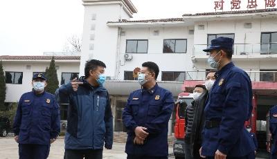 青岛市应急局督导检查我市新冠病毒定点治疗医院消防安全保障工作