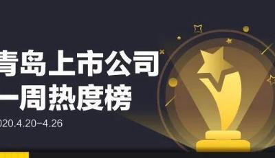 青島上市公司一周熱度榜|雙星集團混改方案獲批;青島銀行、青農商行發布靚麗一季報