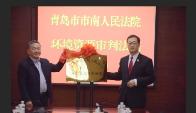 守护碧海蓝天  市南法院环境资源审判法庭揭牌启用