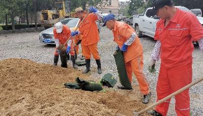 提高突发事件处置能力 青岛固废公司开展防汛应急演练