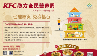"""百胜中国助力2020全民营养周——""""健康生活从早餐开始""""亲子沙龙青岛肯德基餐厅开讲"""
