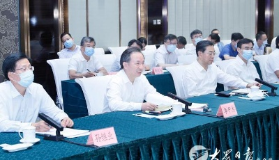 黃岡市黨政代表團來山東考察 劉家義李干杰會見代表團楊東奇出席