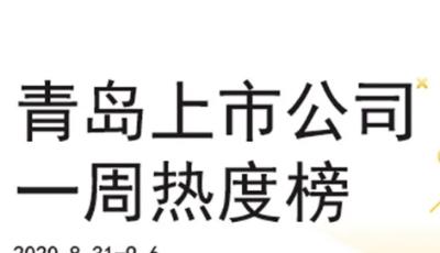 青岛上市公司一周热度榜 | 冠中生态过会,A股上市青企将达44家