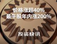 铜价涨超40% 最牛概念股年内涨幅超280%