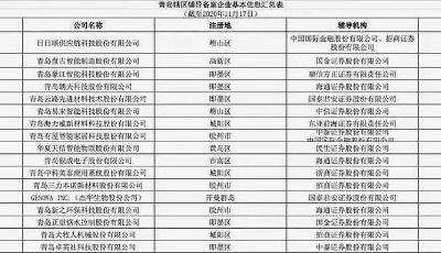 """17家公司辅导备案   青岛上市""""后备军""""各有""""绝活儿"""""""