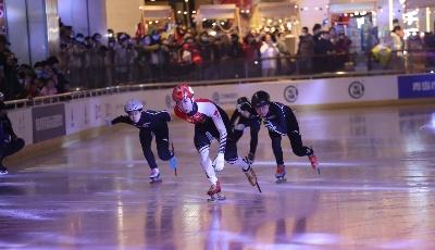 奥运冠军武大靖加油助威  青岛迎冬奥冰雪节开幕