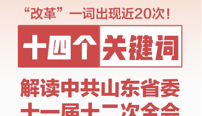 政能量 十四个关键词解读中共山东省委十一届十二次全会