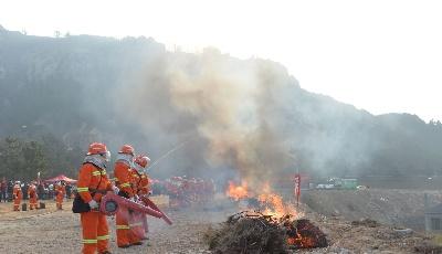 机器人无人机出动! 青岛市举行森林防灭火应急救援演练活动
