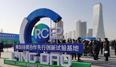 RCEP青岛经贸合作先行创新试验基地开工仪式在青举行