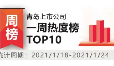 青岛上市公司一周热度榜|3家青企拿到IPO批文 海尔生物2021年收益预增3.49亿元