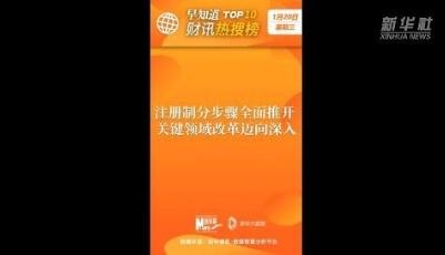早知道·财讯热搜榜TOP10(1月20日)