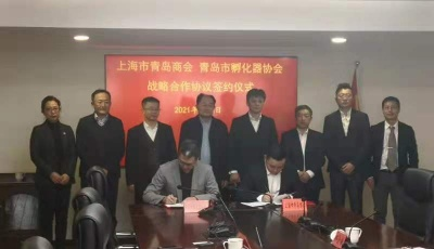 青沪再联手 上海市青岛商会与青岛市科技企业孵化器协会签约