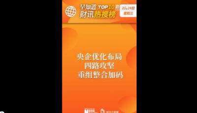 早知道·财讯热搜榜TOP10(2月24日)