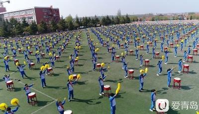 燃爆!這所小學竟然藏著一個千人盤鼓隊